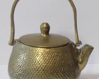 Vintage Toy size Brass Teapot