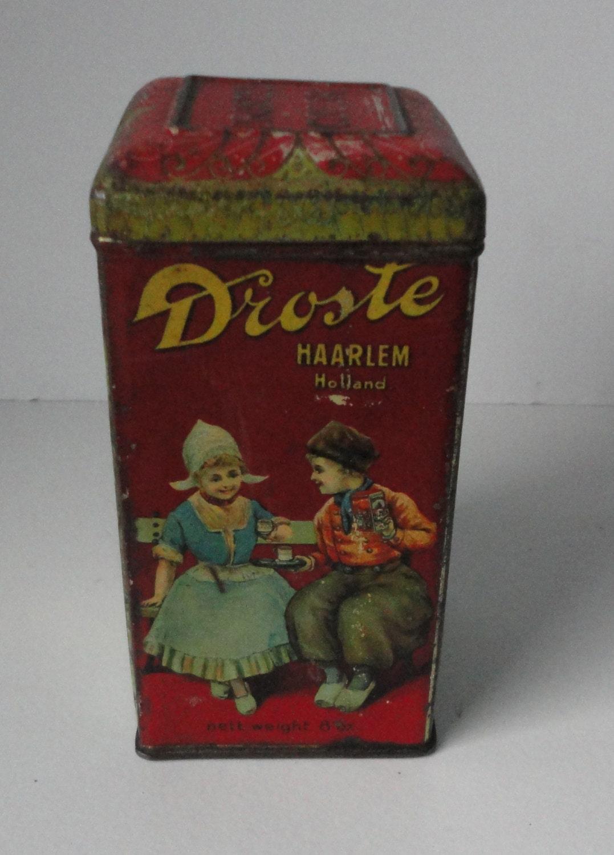 Ancienne boite metal cacao de droste charni res droste - Boite metal ancienne ...