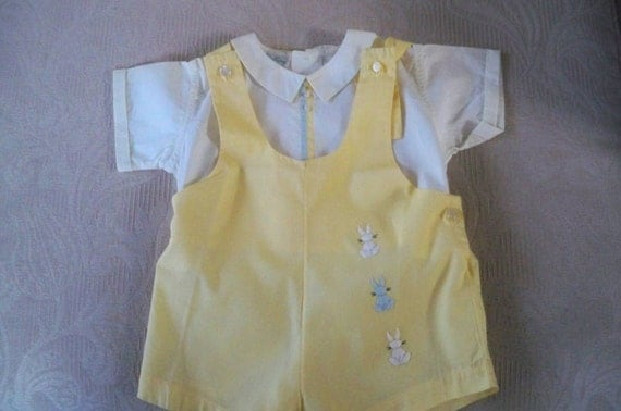 vintage clothing baby boy two romper by