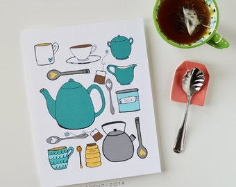 CHOOSE your color, Kitchen Art, Kitchen Decor, I love tea, Tea lover, teapot, tea cup, Art Print