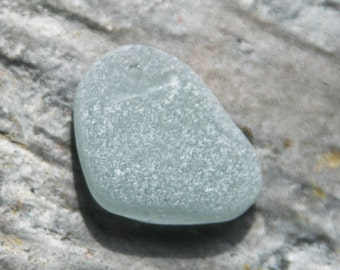 Rare Soft Gray Seaglass. SUPER Frosted, Chunky.  Top Drilled from Puerto Rico. Lot G1.