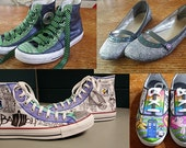 Custom Designed Sneakers - Hand Drawn & Full Color