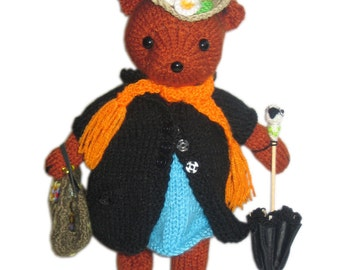 Mary Poppins BEAR Pdf Email Knit PATTERN
