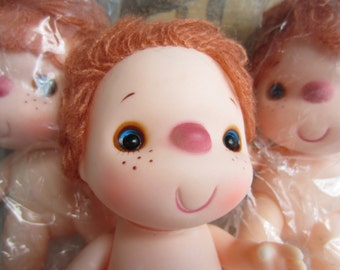 Vintage Doll Supply Big Eyes Red Yarn Hair made in Hong Kong