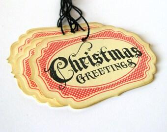 Vintage Christmas Tags, Christmas Gift Tags, Christmas Labels, Christmas Packaging, Gift Tags, Holiday Gift Tags, Holiday Packaging