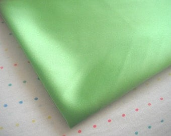 "Apple Green Satin Lining Fabric, 60"" Wide, BTY"