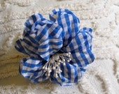 Cute 90s Summer Gingham Flower Pin for headbands, hats, and more