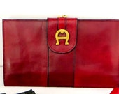 Estate Aigner Equestrian Wallet Billfold Port-Monnaie Bag Iconic Cordovan Exc Pre-owned 60s 70s