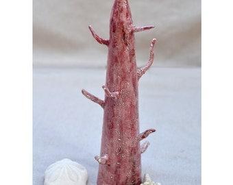 Jewelry Tree Ceramic Holder. Unique Valentine's  Gift. Jewelry Display. Nature Inspired Ceramic Sculpture. Ceramic Art. Hand Built Ceramics.