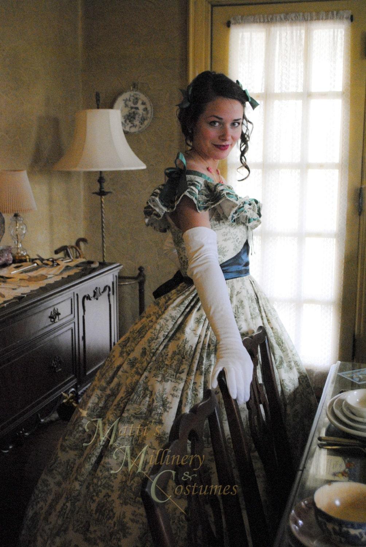 scarlett o hara victorian civil war steampunk ball gown