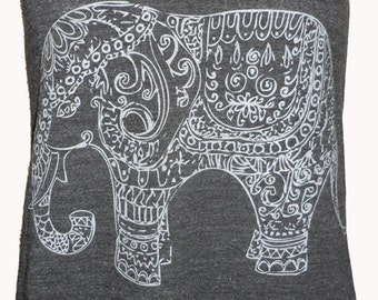 Painted Elephant Paisley Henna Art Tank T-shirt Ladies American Made XS S M L or XL