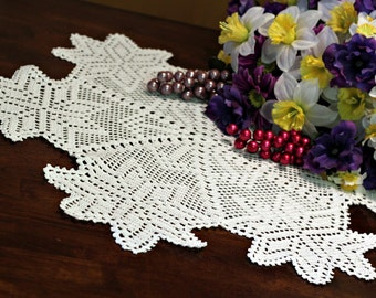 Beautiful White Star  Crochet doily
