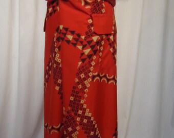 Hawaiian Utili-lavalava Tiki sarong