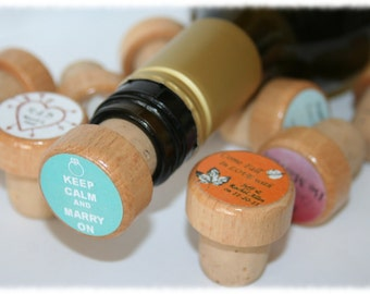 Make Your Own Wine Stoppers, Custom Wine Stopper, Personalized Stopper, Party Favors, Thank You Gifts, Wine Stopper Wedding Favors
