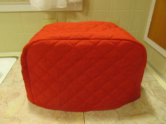 red 2 slice toaster cover 12 inches wide ready to ship. Black Bedroom Furniture Sets. Home Design Ideas