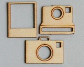 Say Cheese Mini Wood Pieces by Maya Road