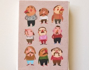 Mustache man / Tiny canvas print