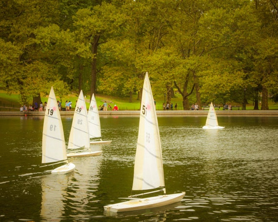 Toy Sailboat Photo, Central Park Photograph New York Photography Conservatory Pond Sailing Dreamy Nursery Art nyc33