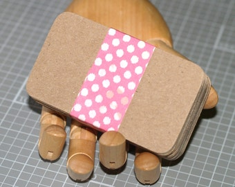 "100 Business Card Blanks ... Heavyweight Kraft Chipboard Rounded Corners Recycled Cardstock Seller Supplies 2"" x 3.5"" Thick Cards Blank"