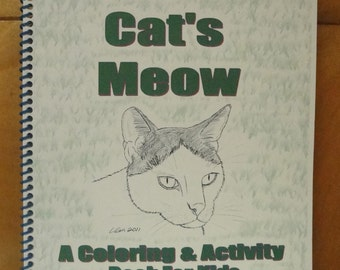 "A Coloring & Activity Book For Kids - ""The Cat's Meow"""
