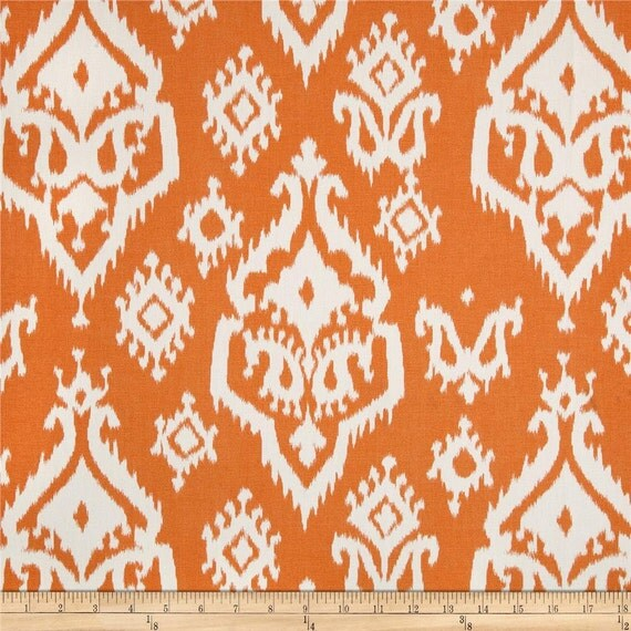 Fabric Shower Curtain Raji Macon Apache Orange By Kirtamdesigns