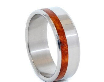 Titanium Wedding Rings, Wooden Wedding Rings, Mens ring, womens ring, titanium jewelry, engagement ring, wood rings - ASTIR WITH LOVE
