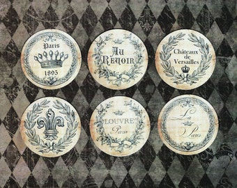 Stickers, French Style, Crown, Sticker Seals, French Theme