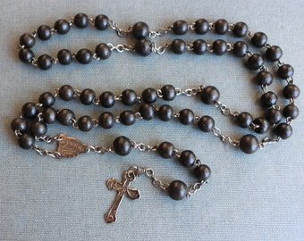 RARE St Wilgefortis Antique French Rosary / Bearded Lady