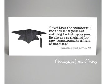 ... graduation, congratulations, inspirational quote card, literary quote