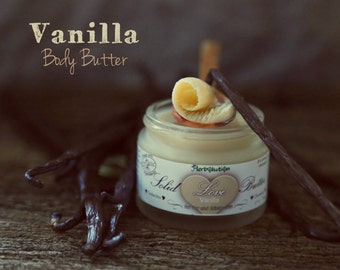 Organic Vanilla Body Butter Solid Love Massage Vegan Natural with Shea butter 1.7 oz
