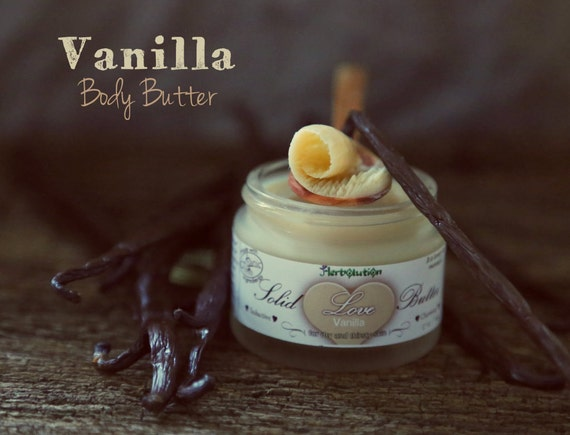 Organic Vanilla Body Butter Solid Love Massage Vegan Natural with Shea butter 1.7 oz