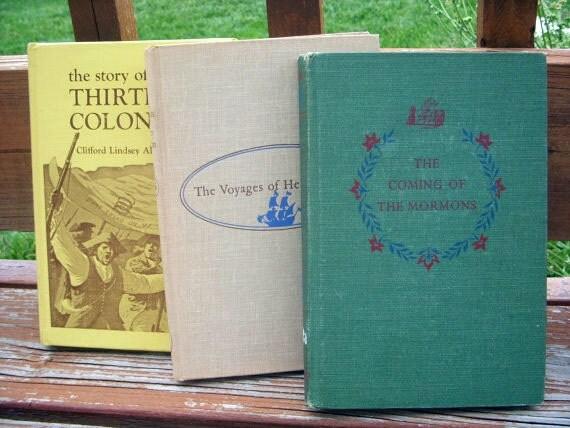 11 Vintage LANDMARK Books Lot Hardback American History Homeschool Military