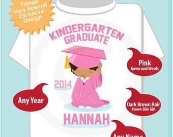 Personalized Kindergarten Graduate Shirt Kindergarten Graduation Shirt Child's Back To School Shirt (05142014d)
