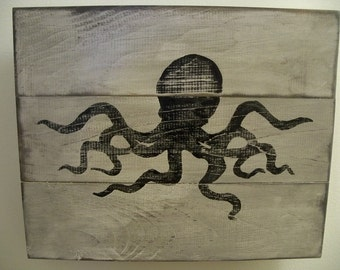 Distressed Octopus Wall Art