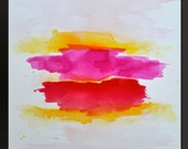 Radiant Beginnings - 24 x 24 - Abstract Acrylic Painting - Contemporary Wall Art - Minimalist Modern