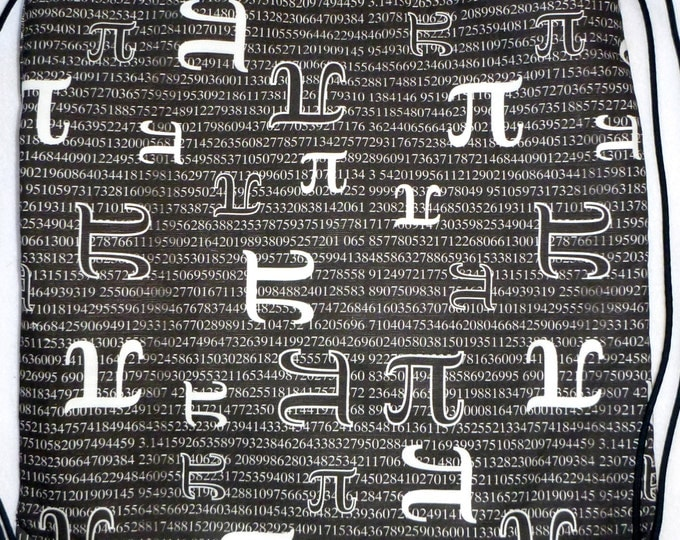 Just a Piece of Pi - 2 in 1 Backpack/tote cotton canvas Custom Print