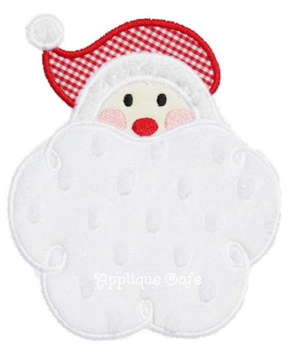 Santa machine embroidery applique design