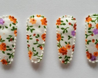 25 pcs -  Orange and Purple Florist flower Hair Clip COVERS for toddler - size 35 mm