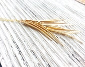 Metal Fringe Necklace Tribal Simple Minimalist Layering Design Brass Golden Gold Boho Chic Long Layer Dangle Stacking
