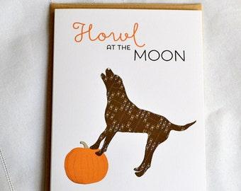 Howl at the Moon Greeting Card
