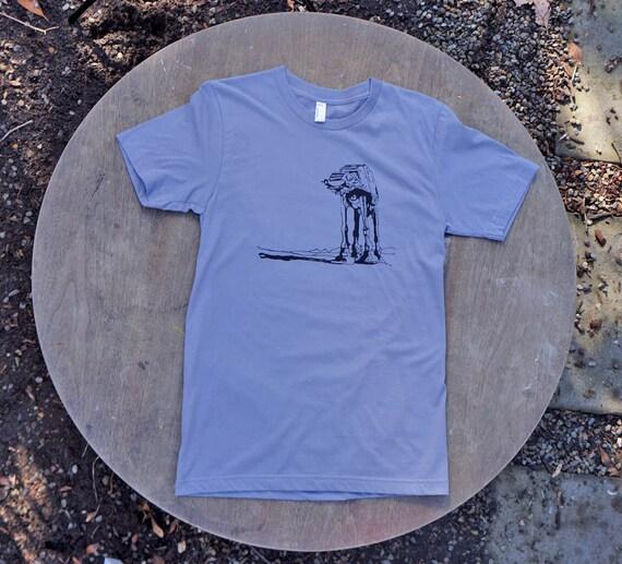 AtAt Walker Screen Print Design on American Apparel tee for Men