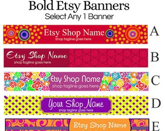 Shop Banners -  Bold Selection 1