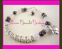 Girl Bracelet Baptism Bracelet Girl Name Gift Christening Bracelet Cross Baby Flower Girl Bracelet swarovski pearl sterling silver custom