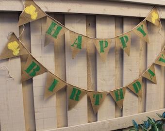 John Deere inspired birthday banner