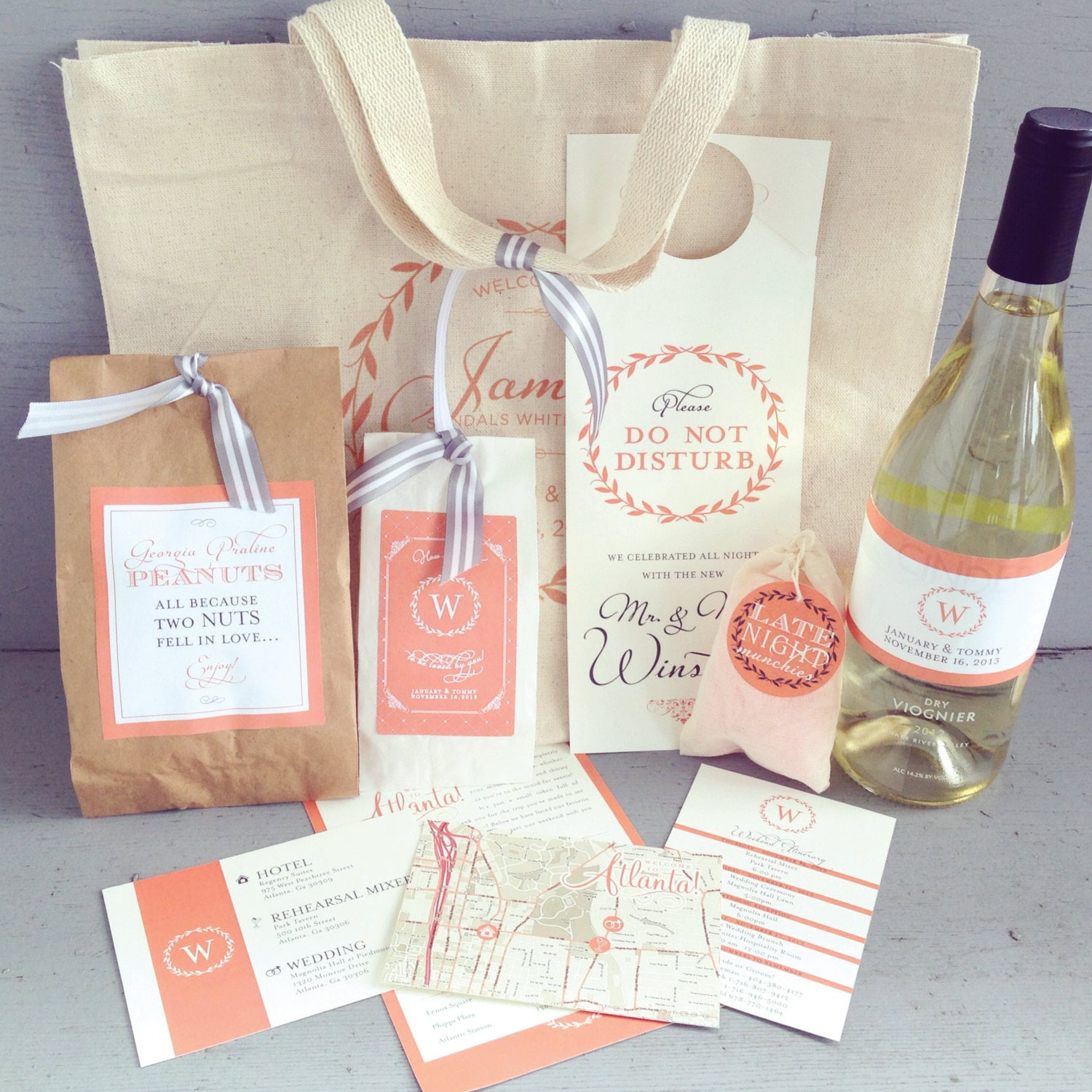 Wedding Gift Bag Suggestions : Newport, Rhode Island Wedding with True Event & Leila Brewster