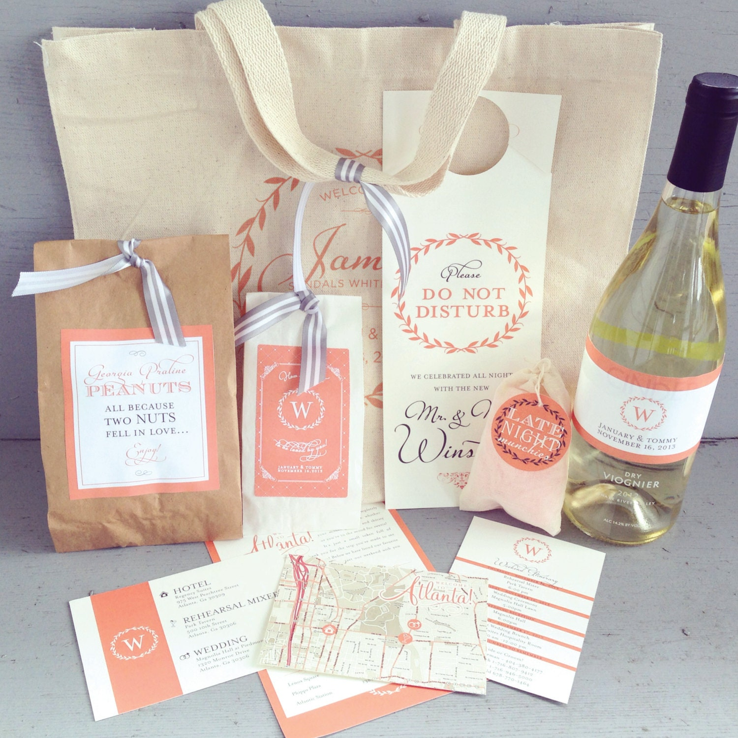 Wedding Fair Gift Bag Ideas : Newport, Rhode Island Wedding with True Event & Leila Brewster