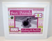 Best Friends, Sisters, Cousins Picture Frame -  Princess Theme - Personalized - Deluxe 8x10 Frame Included