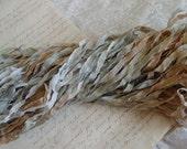 NEW dye batch - Hand Dyed JOURNEY glitters ribbon, 5 yards
