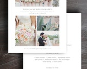 Sale! Wedding Photographers Price List - Pricing Guide Template - Photo Marketing - Digital Photoshop Templates - Instant Download - m0081