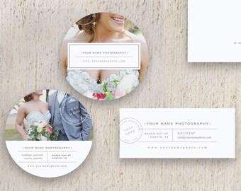 Photographer Sticker Templates - Label Designs for Photographers -  Premade Digital Photoshop Files - m0090